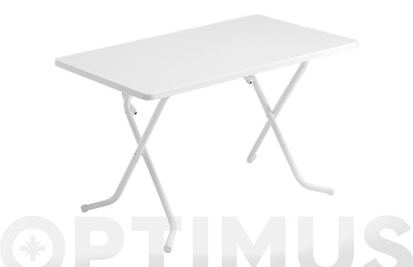 Mesa rectangular plegable blanco 110 x 70 cm
