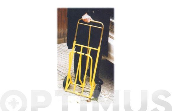Carretilla domestica plegable utilitaria 75 kg pala abatible