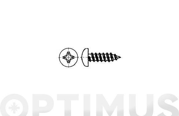 """Tornillo parker din 7981 c/alomada philips inox a2 4.2- 8x1""""1/2"""