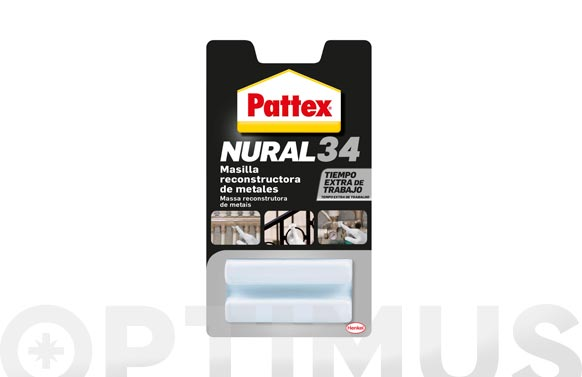 Masilla reconstructora de metales gris pattex nural 34 50 gr