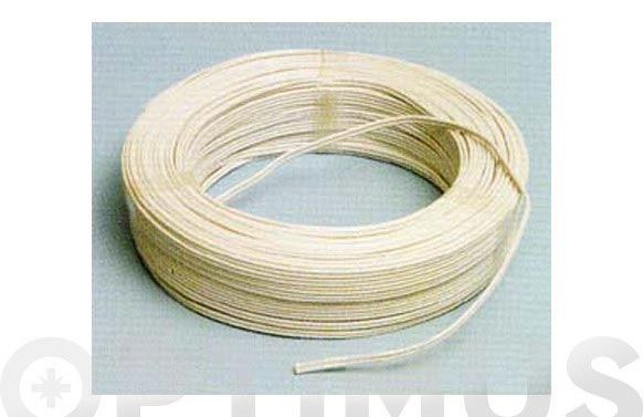 Cable audio blanco/gris r.100m 2x1