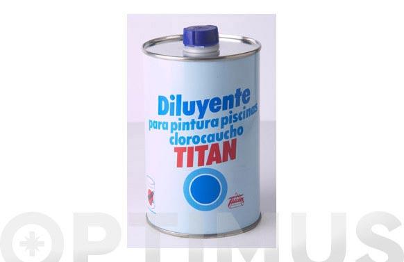 Diluyente para pintura piscina 1 l