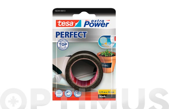 Cinta americana extra power perfect negro 2.75 m x 38 mm