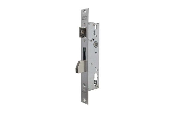 Cerradura puerta metalica serie 2210 4210-30 mm inox sin cilindro