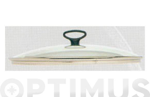 Tapa pyrex aro silicona y pomo inox 28 cm