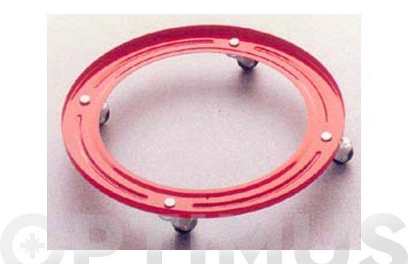 Soporte butano menaje roch ø 32 cm., rueda metalica