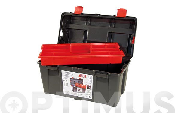 Caja herramientas polipropileno n 30 gris 235 x 445 x 230 mm 1 bandeja
