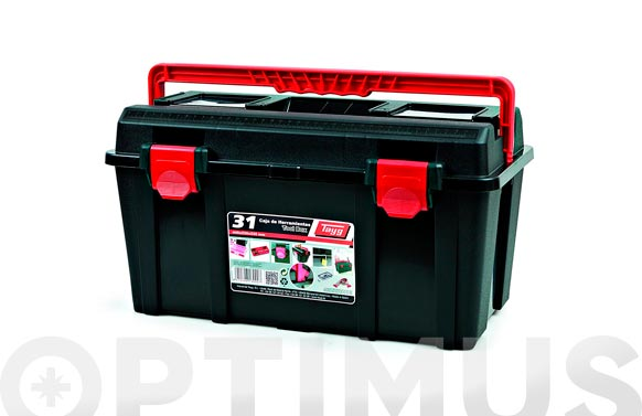 Caja herramientas polipropileno n 31 gris 445 x 235 x 230 mm 1 bandeja 1 estuche