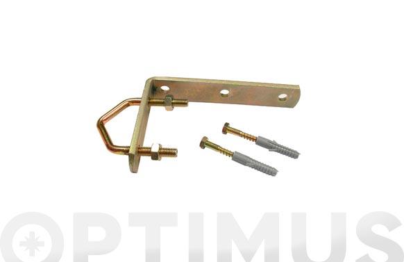 Abrazadera mastil antena angular con tacos y tornillos