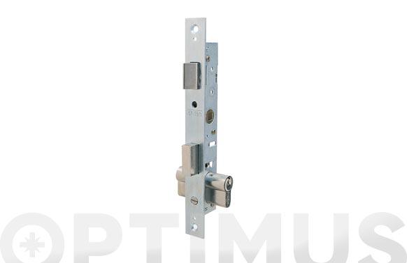 Cerradura puerta metalica serie 2200 2200-13,5 mm cincada sin escudo ni cerradero