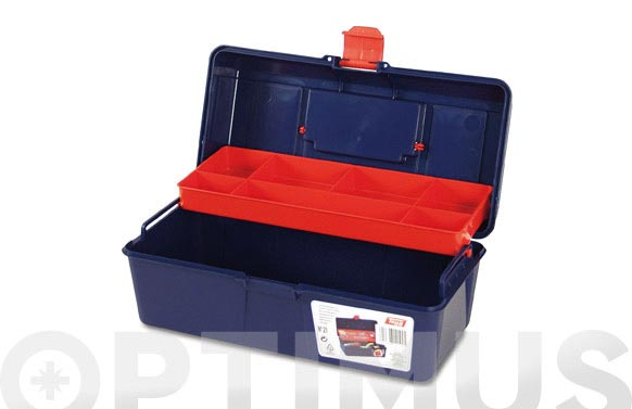 Caja herramientas polipropileno n 21 azul 310 x 160 x 130 mm 1 bandeja
