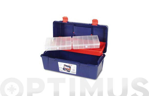 Caja herramientas polipropileno n 25 azul 400 x 206 x 188 mm 1 bandeja 1 estuche