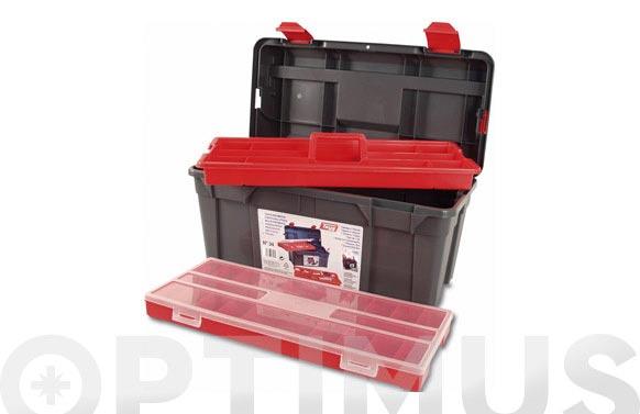 Caja herramientas polipropileno n 34 gris 580 x 285 x 290 mm 1 bandeja 1 estuche