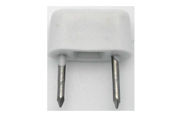 Tope 2 puntas 6 unidades pequeño blanco