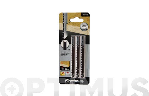 Hoja sierra calar madera cabezal en u corte medio. 3 unidades