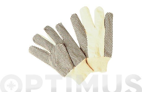 Guante algodon canvas puntos pvc talla unica