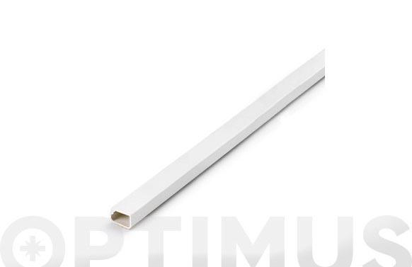 Canaleta adhesiva blanca 2 m 12 x 7 mm
