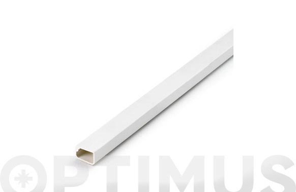Canaleta adhesiva blanca 2 m 16 x 10 mm
