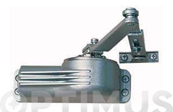 Cierrapuertas clasic con retencion plata 22at50