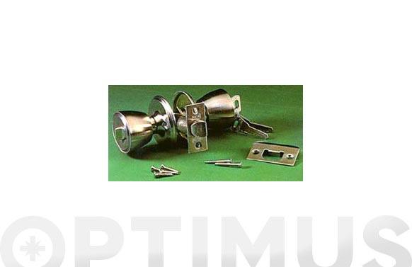 Cerradura pomo 501b inox 70