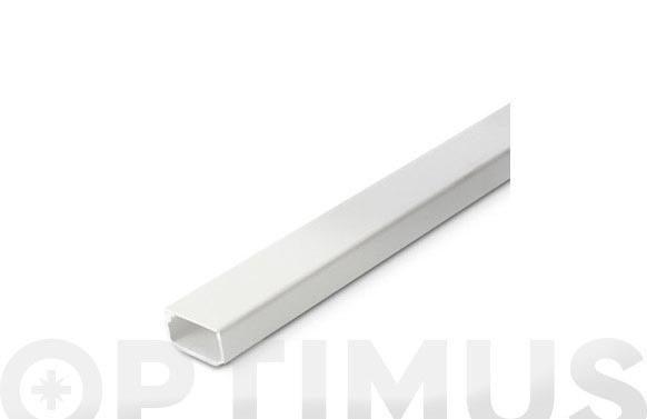 Canaleta adhesiva blanca 2 m 21 x 11,5 mm
