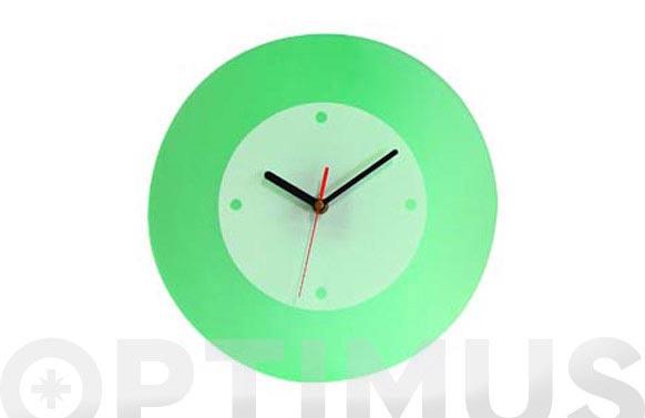 Reloj acrilico color verde