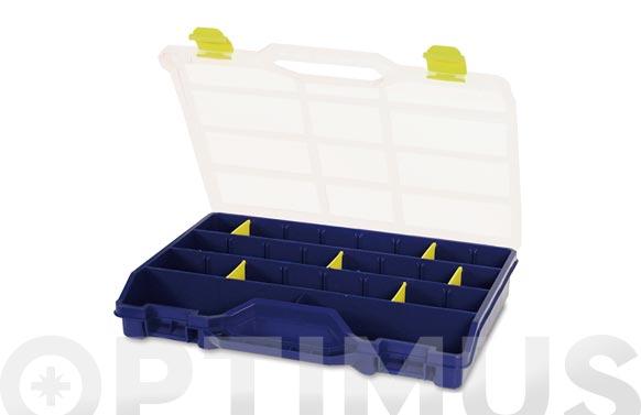 Maletin organizador plastico n.46-26 azul 21 separadores
