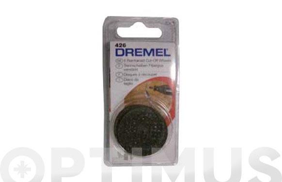 Disco esmeril de corte reforzado (5 unid) ø 32 mm