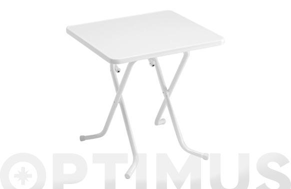 Mesa cuadrada plegable 70x70 cm-blanco
