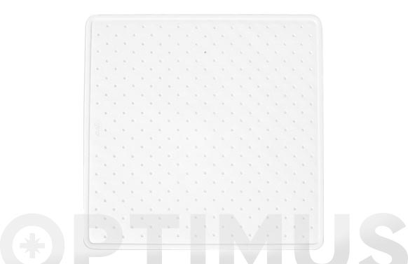 Alfombra ducha caucho natural blanco 54 x 54 cm