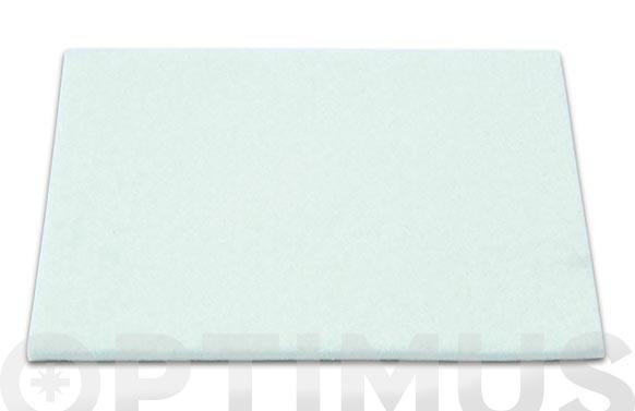 Deslizador de fieltro adhesivo blanco 100x85mm