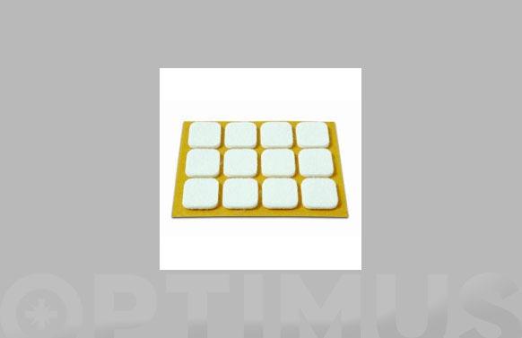 Deslizador de fieltro adhesivo blanco 20x23 mm 12 unid