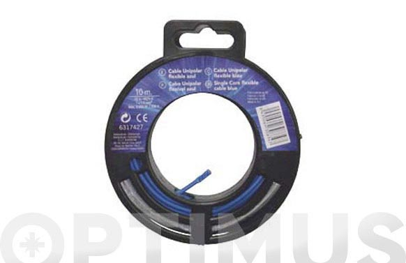 Cable conexion h07v-k (r.25m) 1x1.5 gris