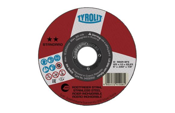 Disco corte inox standard 125 x 1.6 x 22 plano