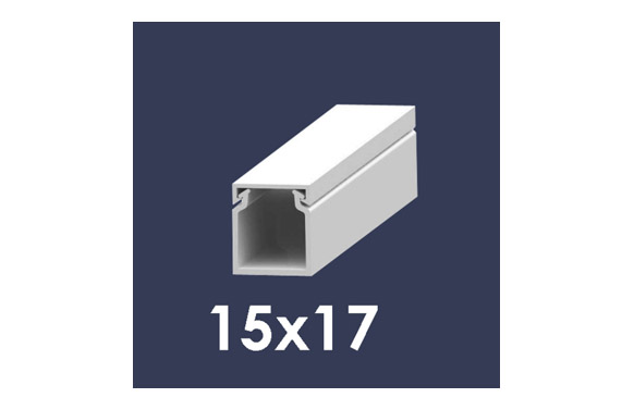 Canaleta 2 m blanca 15 x 17 mm