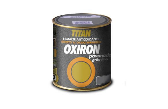 Esmalte pavonado oxiron 375 ml gris acero