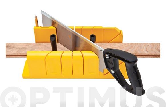 Guia de ingletar plastico + serrucho costilla 300x130 mm