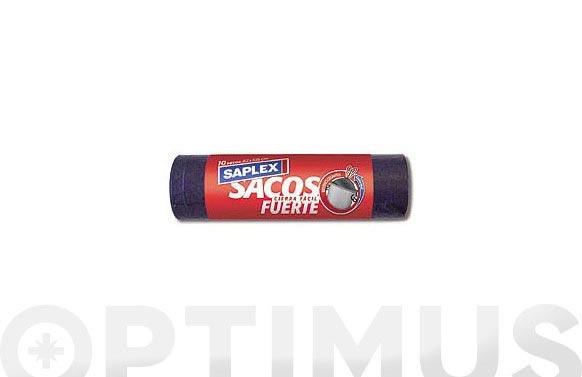 Saco basura cierra facil 120 l (10 uds) 82x105 cm fuerte
