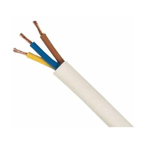 Bobina cable manguera redonda 3g1,5 blanca