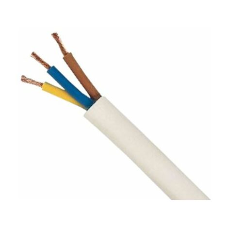 Cable manguera redonda 3g2,5 blanco