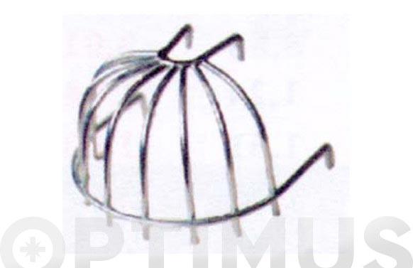 Colador azotea alambre negro 1/2 bola (morrion para hojas)