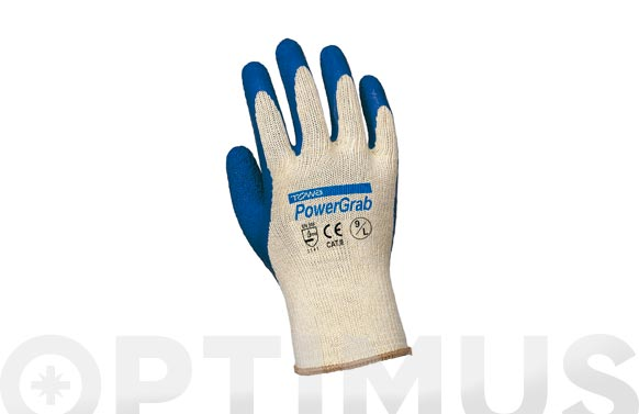 Guante latex poliamida/algodon t m/8
