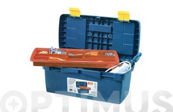 Caja herramientas polipropileno n 17 azul 580 x 290 x 290 mm 1 bandeja
