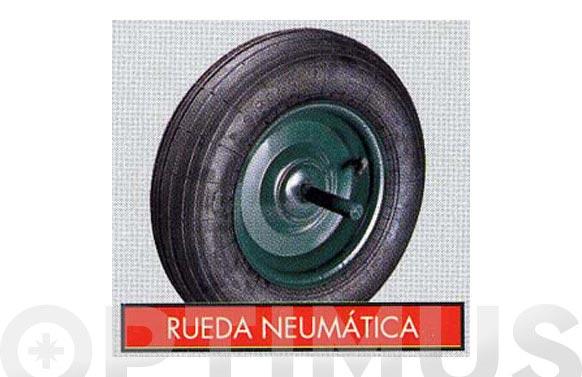 Rueda carretilla obras neumatica 350x8