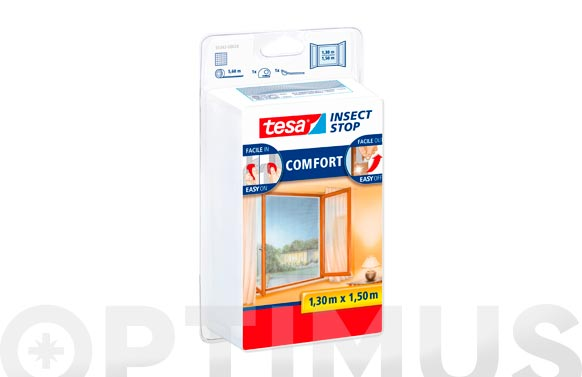 Mosquitera ventana 1,3 x 1,5 mt color blanco