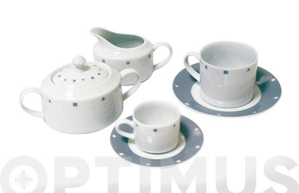 Lechera porcelana decorada gris 628