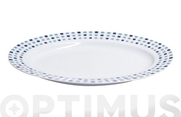 Fuente oval porcelana decorada gaudi 545