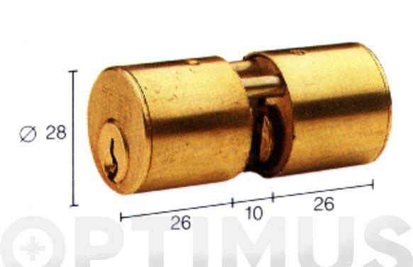 Cilindro te5 laton llave serreta 31-31 redondo