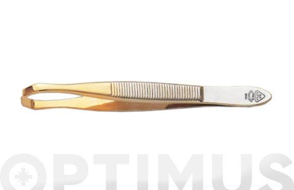 Pinza depilar punta oro 8 cm