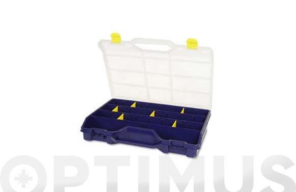 Clasificador maletin plastico n.47-26 azul 21 compartimientos 460 x 350 x 81 mm